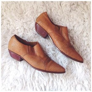 'Kassidy' Western Snakeskin Pointed Ankle Boots